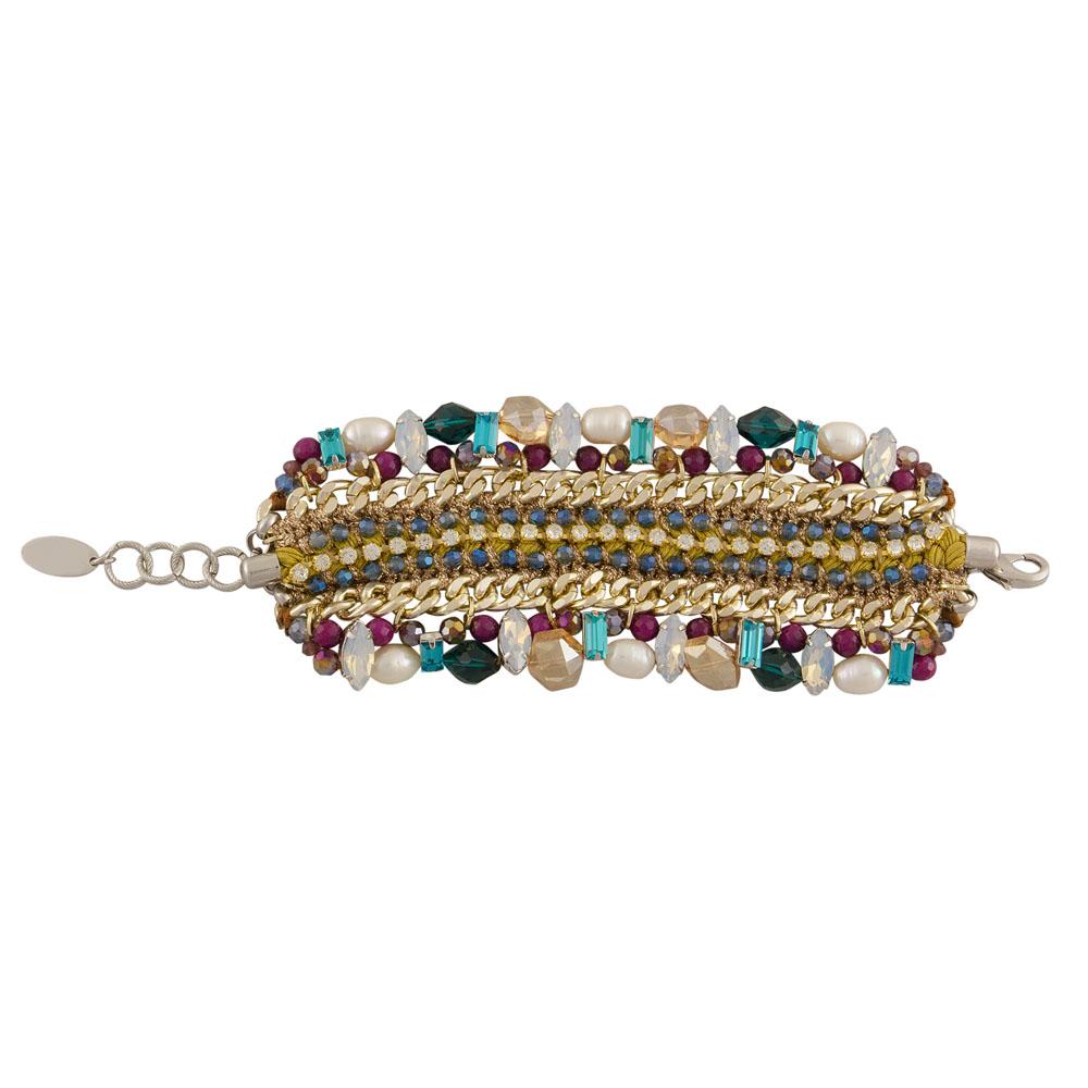 Aletta – Armband – gold, champagner, lila