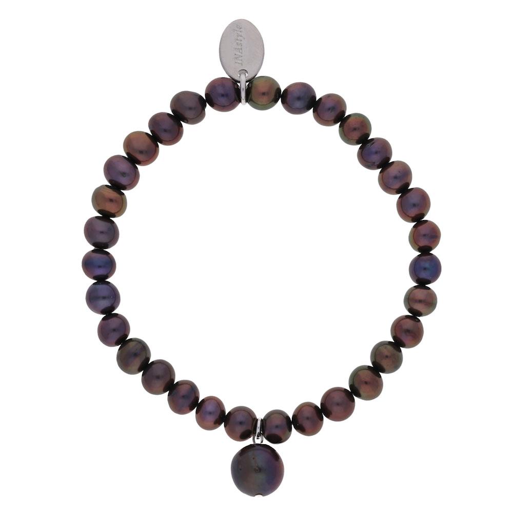 Agathe – Armband – grau