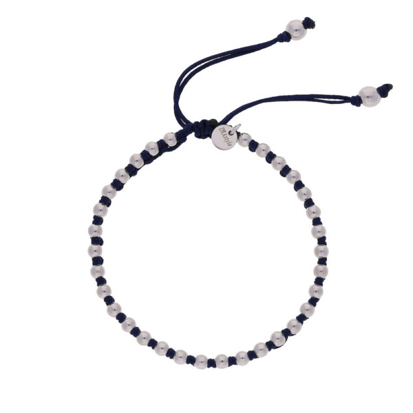 INAstyle I Armband Lilly in Dunkelblau und Silber