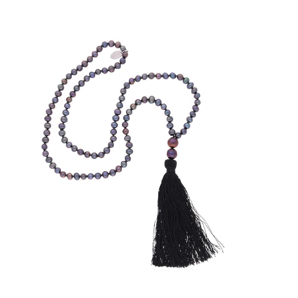 Agatha – Halskette – grau, schwarz