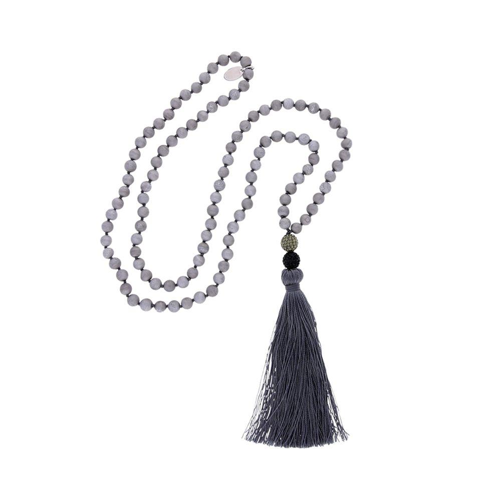 Agatha – Halskette – grau