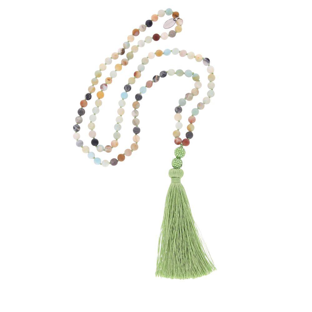 Agatha – Halskette – hellgrün