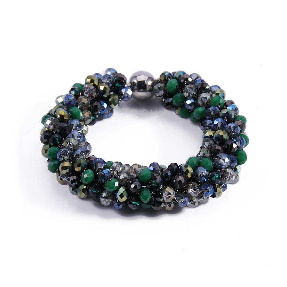 INAstyle I Armband Magnifica in Grün mit Magnetverschluss