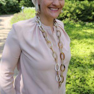 INAstyle Hornschmuck Halskette
