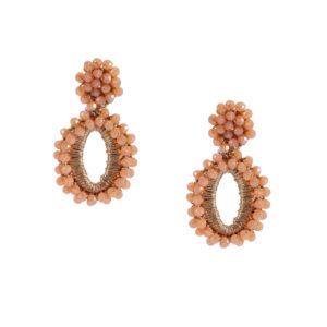 INAstyle I Bestelle jetzt den Ohrring ELLI aus rhodiniertem Kupfer, glänzendem Garn und leuchtenden Glaskristallen!