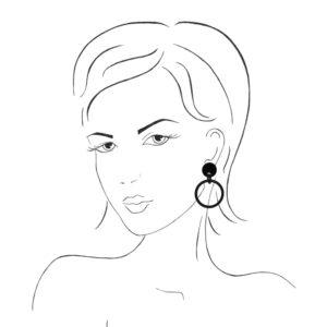 INAstyle Hornschmuck Ohrring