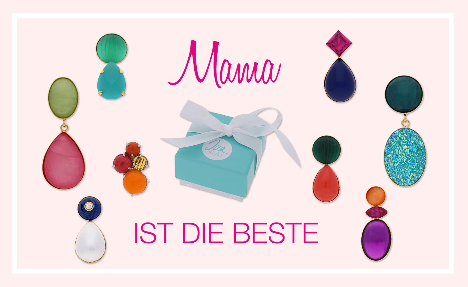 INAstyle Muttertag Geschenke - bunte Ohrringe und Ohrclips