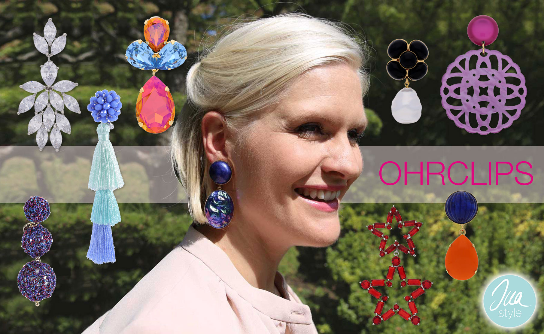 INAstyle Ohrclips in vielen Farben für Frühling und Sommer