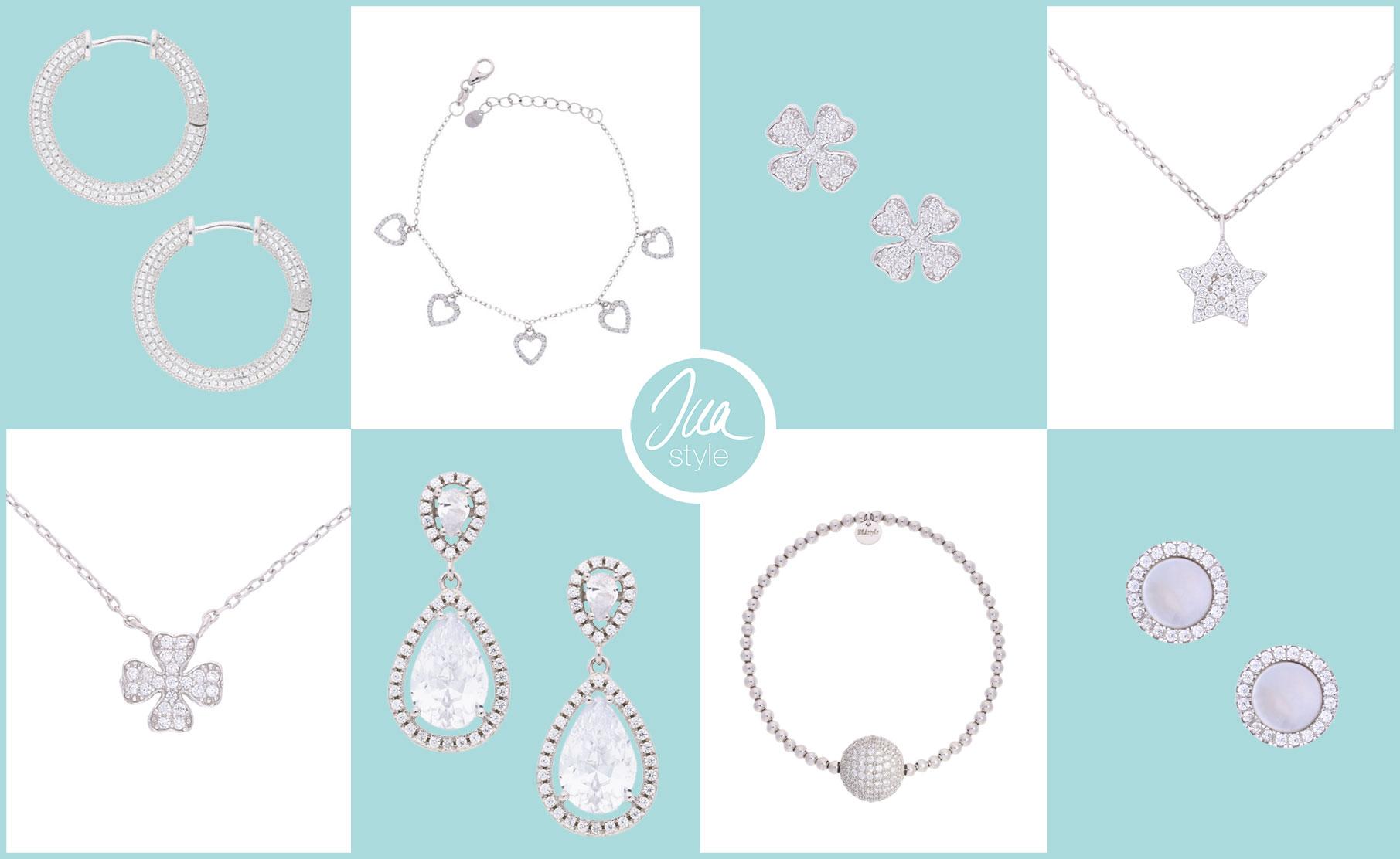 INAstyle I Filigraner Silberschmuck aus 925er-Silber, Zirkonia und Perlmutt - Ohrringe, Armbänder und Halsketten!