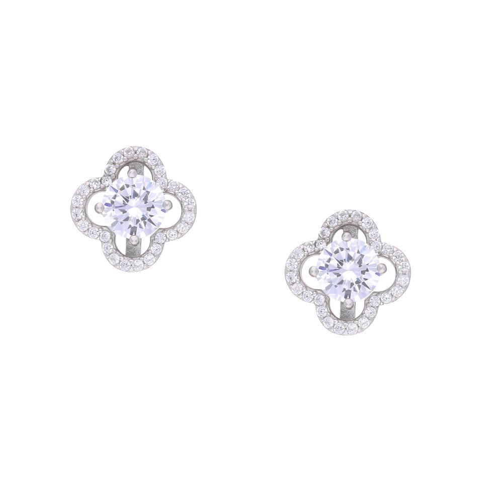 INAstyle Steckerohrring CAMBIA aus 925er-Silber und Zirkonia Steinen