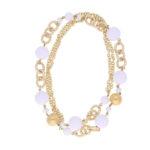 INAstyle Sommer Schmuck Statement Halskette CLAIRE Weiss Gold