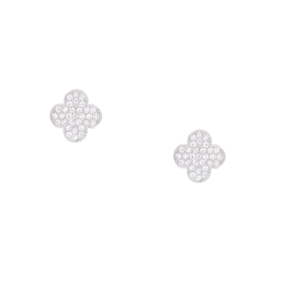 INAstyle Steckerohrring LUCILI aus Silber und Zirkonia Steinen