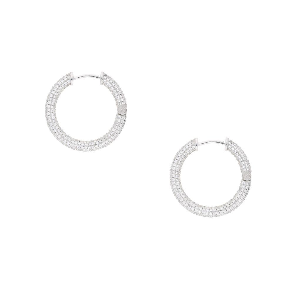 INAstyle Kreole MARGAUX aus 925er-Silber mit Zirkonia Steinen