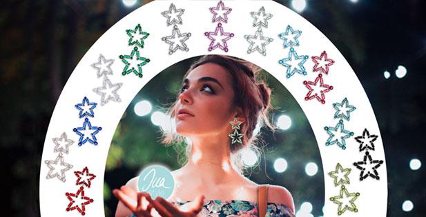INAstyle I Schöne Sternohrringe STARLIGHT aus Zirkonia als Ohrclip und Steckerohrring in vielen tollen Farben!