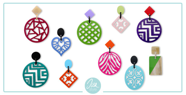 INAstyle I Leichte Horn Ohrringe in ganz verschiedenen Formen und knalligen Farben!