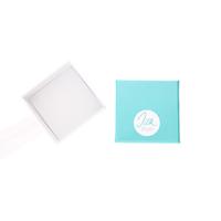 INAstyle I offene kleine Schmuckbox aus Karton in Türkis und Weiß mit Logo