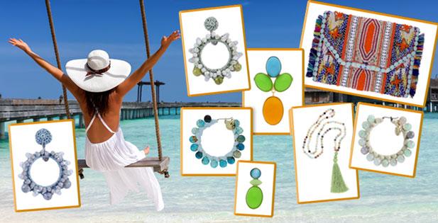 INAstyle I Schöne Sommer-Ohrringe, Clutches und Halsketten für den Urlaub!