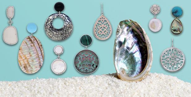 INAstyle I Schöne Perlmutt-Ohrringe in unterschiedlichen Formen und Farben!