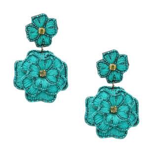 INAstyle I Steckerohrring Dalia in Türkis mit Blumen-Design!