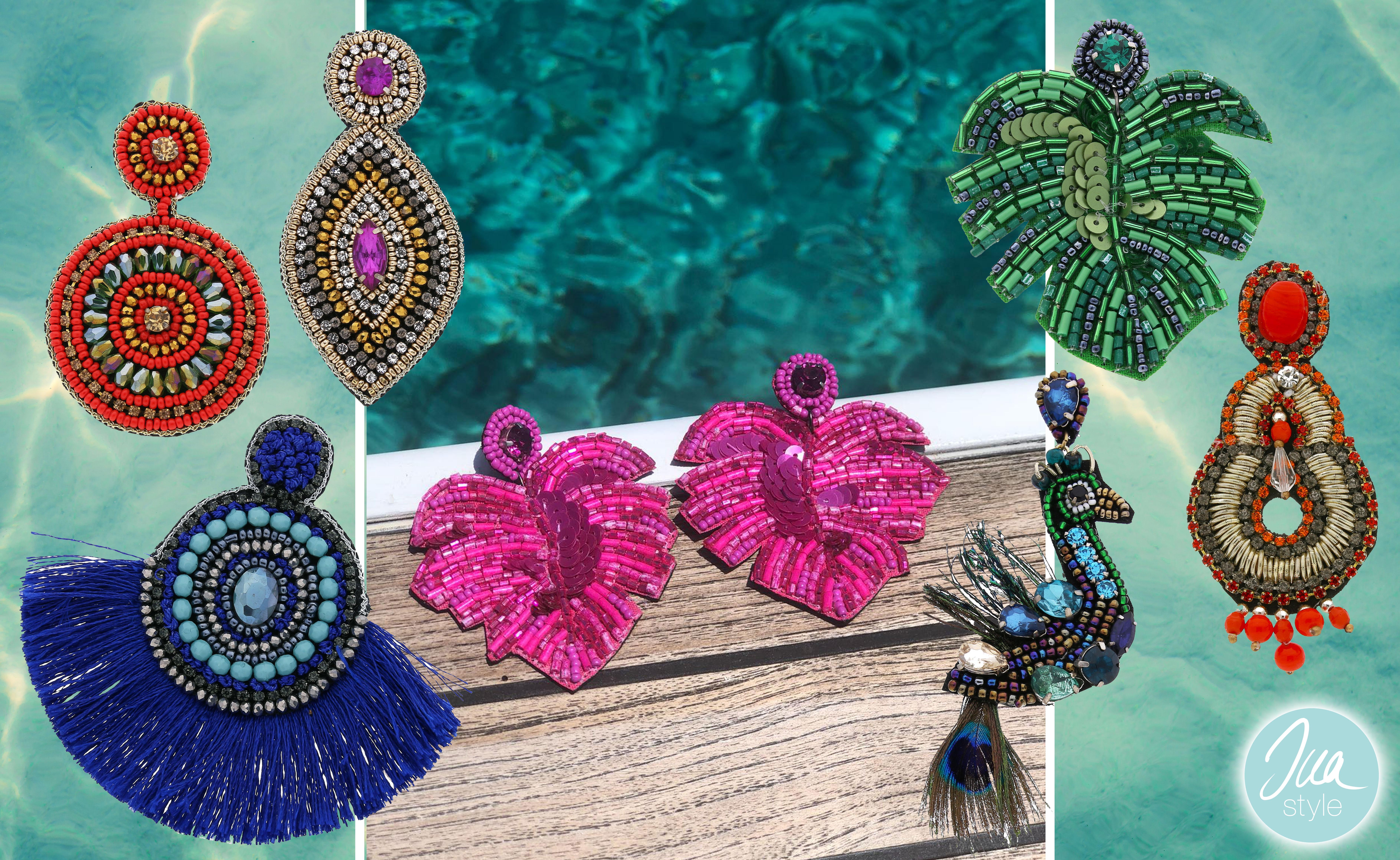 INAstyle I Bunte und besondere Ohrringe - exotisch und orientalisch angehaucht!