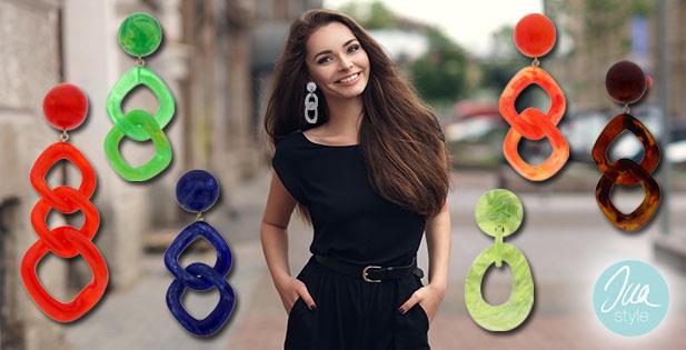 INAstyle I Resin Ohrringe in unterschiedlichen Formen und Farben!