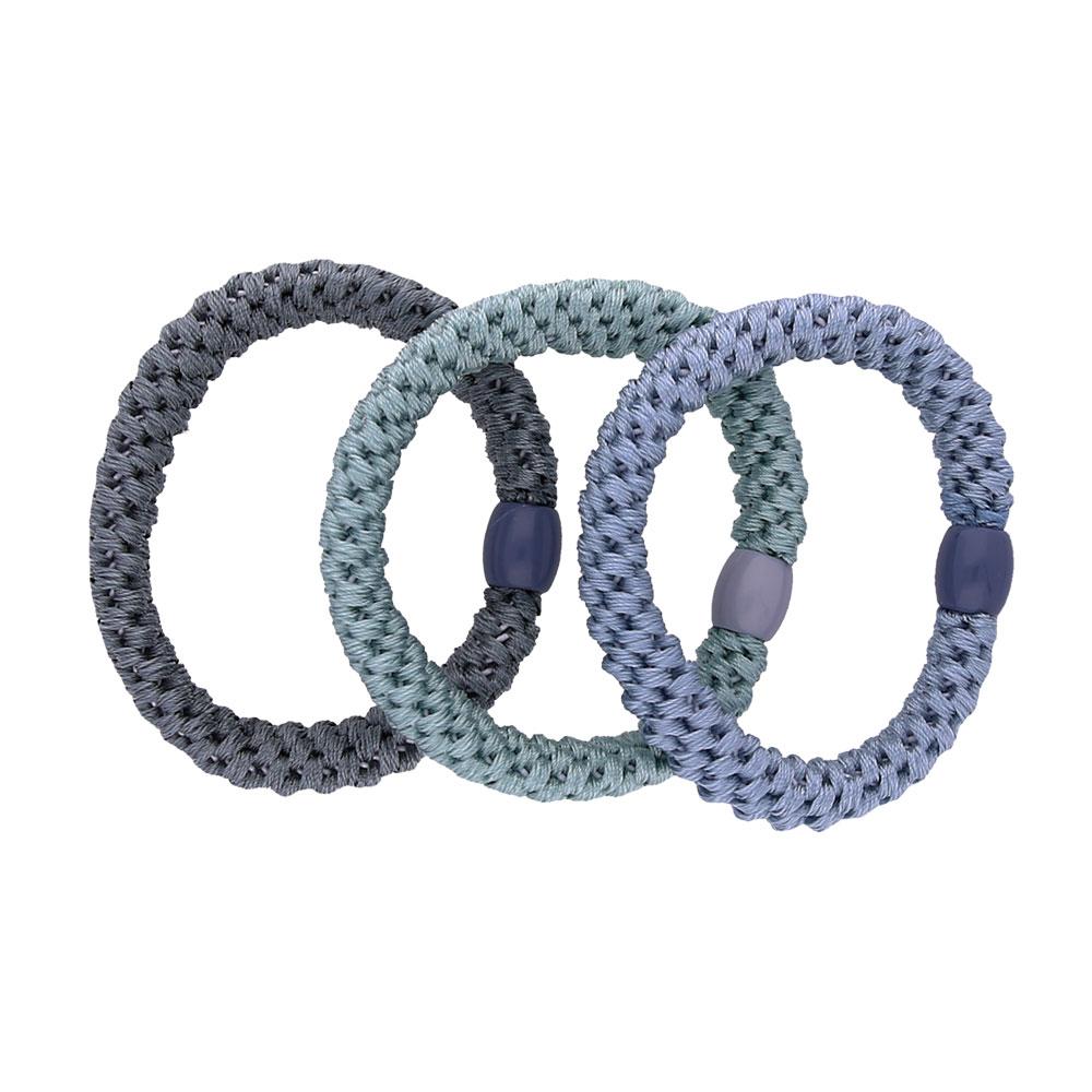 INAstyle I Haargummi-Set in Blautönen bestehend aus drei Haargummis!
