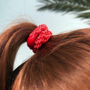 INAstyle I Rotes Haargummi aus Haargummi-Set!