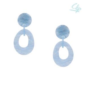INAstyle I Ohrclip Pilar in Eisblau aus hochwertigem, leichten Resin!