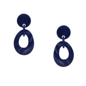 INAstyle I Steckerohrring Pilar in Blau aus Resin!