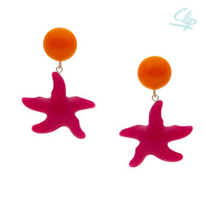 INAstyle I Ohrclip Asteria in Pink und Orange