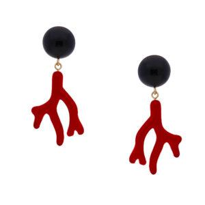 INAstyle I Steckerohrring Arielle in Rot und Schwarz