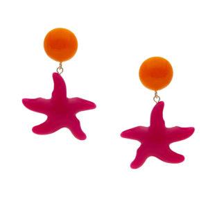 INAstyle I Steckerohrring Asteria in Pink und Orange