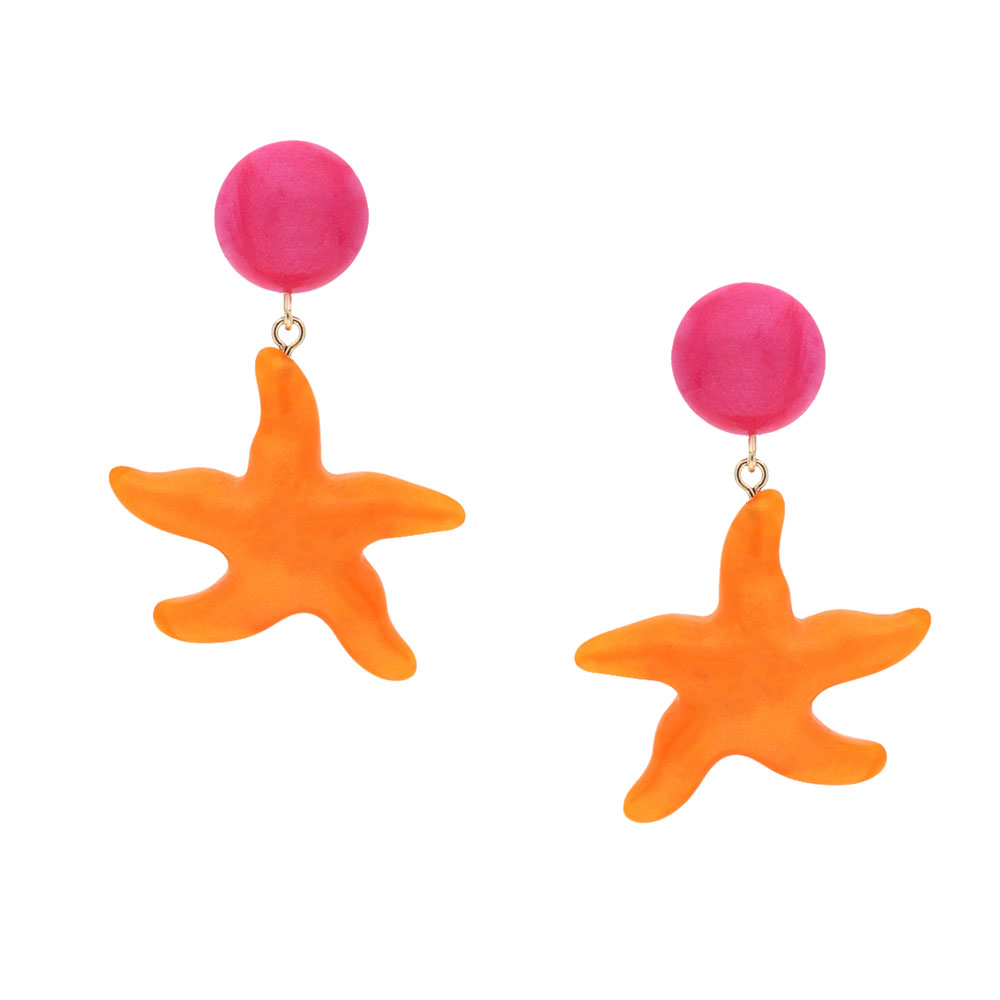 INAstyle I Steckerohrring Asteria in Orange und Pink